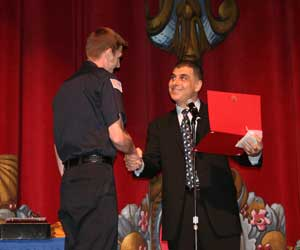 """First Responder of the Year"" Award to Brandon Torson, West Valley Fire Department"