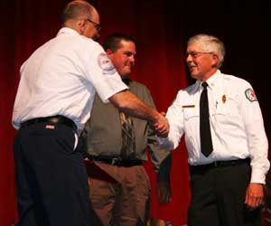 """Paramedic of the Year"" to Jim Curtice, Gleed Fire Department"